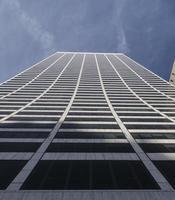 nådebyggande / försvinnande skyskrapa foto