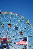 pariserhjul, coney island foto