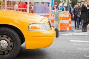 gul taxa i New York foto