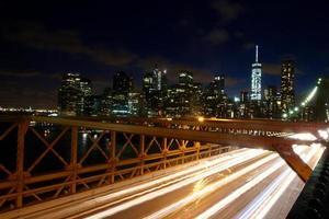 brooklyn bridge rörelse foto