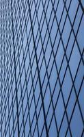 blå glasfält foto