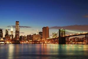 manhattan horisont i New York City foto