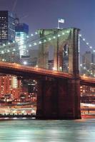 New York City Brooklyn Bridge närbild foto
