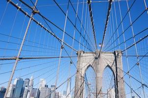 brooklyn bridge i new york city foto
