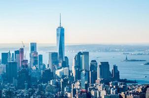 new york city manhattan midtown aerial panorama view with skyscr foto