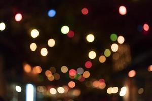 defokuserade lampor foto