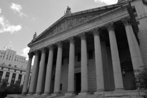 USA: s tingsrättbyggnad som ligger i staden New York foto
