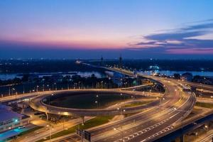 stadsbilden mitt i Bangkok, Thailand foto