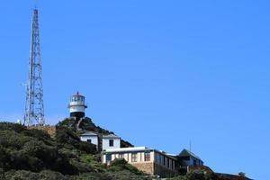der leuchturm vom kap der guten hoffnung i südafrika foto