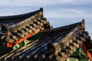 traditionellt koreanskt tak foto