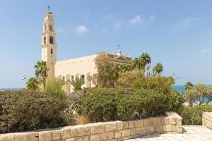 katolsk kloster i Jaffa, Israel foto