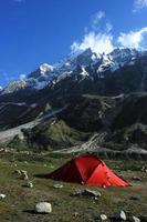 camping i tapovan, himalaya foto
