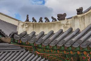 changdeokgung palats, koreansk tradition foto
