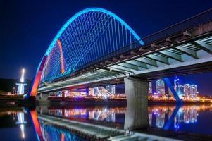 expro bridge på natten i daejeon, foto