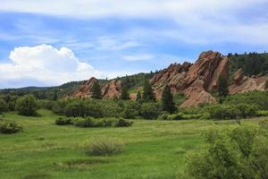 roxborough state park i colorado foto