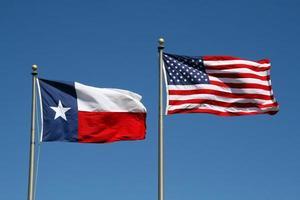 texas och oss flagga foto
