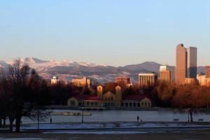 denver city park på vintern foto