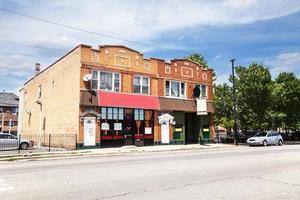 kvarterbar och restaurang i bågskytthöjder, chicago