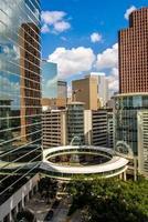 downtown houston highrise byggnader foto