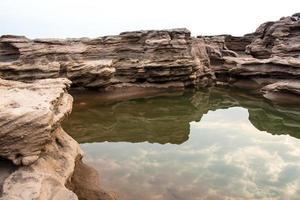 sampanbok (3000 hål), ubon ratchathani, Thailand. foto