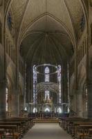 kunglig collegiate av santa maria kyrkan, roncesvalles. Spanien. foto
