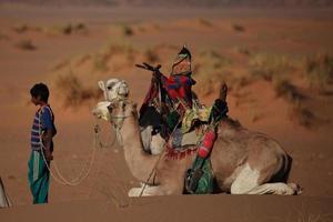 karawane in der sahara foto