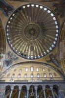 ängelmosaik och kupol av hagia sophia foto