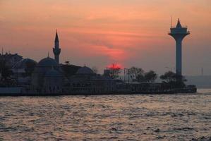 solnedgång i istanbul foto