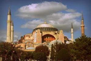utsidan av hagia sophia i sultanahmet foto