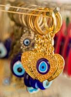 souvenir från Turkiet - ett öga pärlor foto