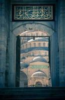 blå moské / istanbul / kalkon / split toning foto