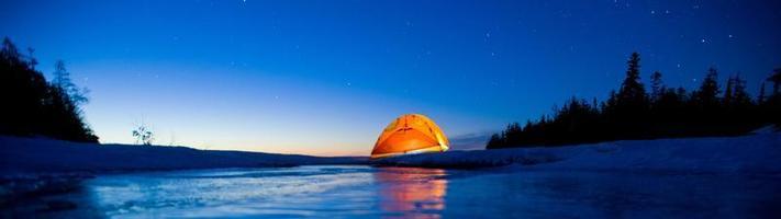 soluppgång på sjön Huron foto