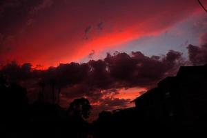 magisk solnedgång foto