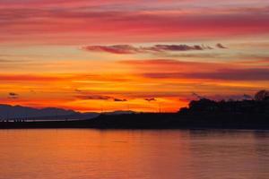 livlig solnedgång