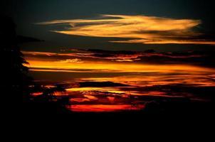 solnedgång färger foto