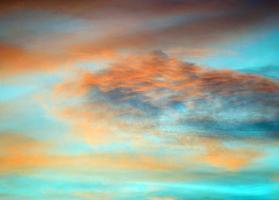 solnedgång molnlandskap foto