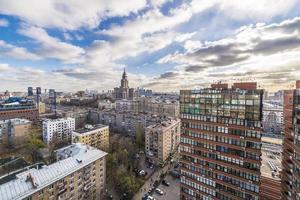 moderna hyreshus i Moskva ovanifrån foto