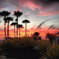 himmels solnedgång foto