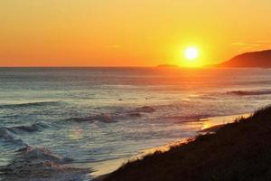 livlig solnedgång foto