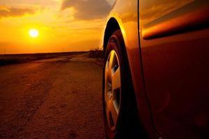 bil solnedgång foto