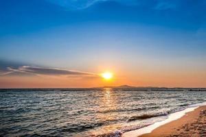 solnedgång scen foto