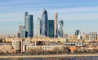 utsikt över staden Moskva foto