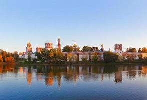 panorama av novodevichiy kloster i Moskva Ryssland foto