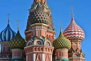 Moskva, katedralen i helgonbasilien.