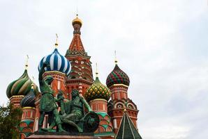 St basilkatedralen i Moskva foto