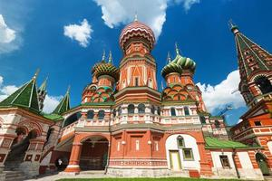 helgonbasilkatedralen på den röda torget i Moskva, Ryssland foto