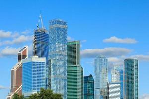 Moskva stadens affärsdistrikt foto