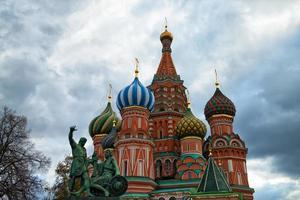 helgonbasilkatedralen i Moskva foto