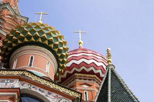 St basils katedral på röda torget i Moskva, Ryssland foto