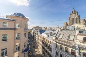 gator och gårdar i gamla Moskva foto